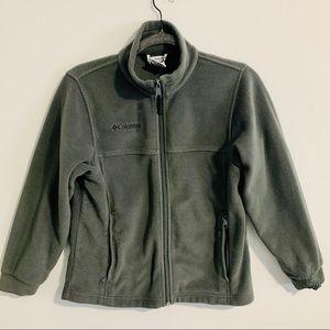 4/$25 Columbia Grey Zip Up Fleece Jacket